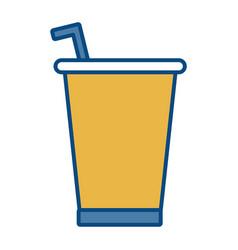 soda drink icon vector image vector image