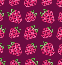 Strawberry seamless pattern - abstract background vector image