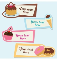Sweet sticker set vector image vector image