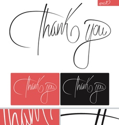 Thank you typography set vector