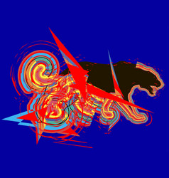 Tiger abstract colorful vector