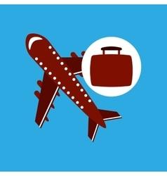 Travel concept airport plane vector