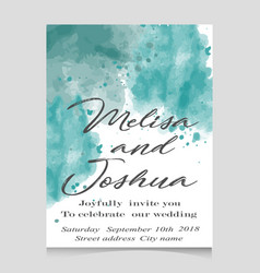 wedding in watercolor style vector image