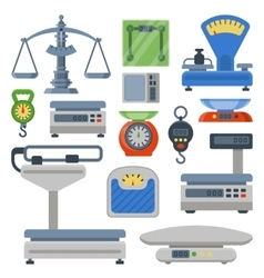 Weight measurement instrumentation tools vector