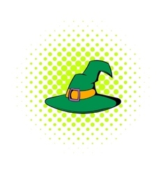 Witch hat icon comics style vector