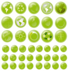 world buttons vector image vector image