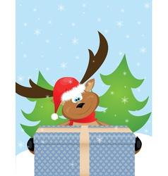 xmas reindeer vector image