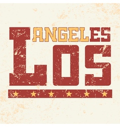T shirt typography los angeles ca grunge vector