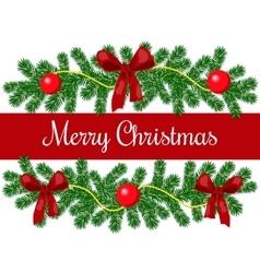 Merry christmas greetings vector