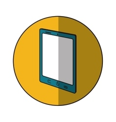 Tablet device inside circle design vector