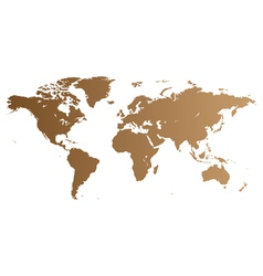 Brown world map vector