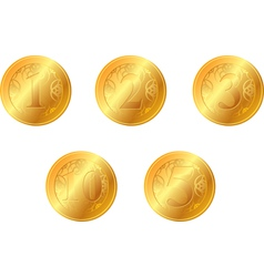 Gold oins vector