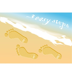 Beach steps infographic vector