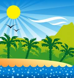 Tropical isle background vector