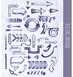 Set of arrow on notepad background vector