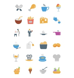Food Colored Icons 4 vector image