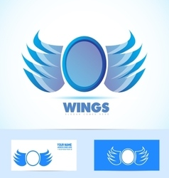 Blue wings logo vector