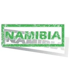 Green outlined namibia stamp vector