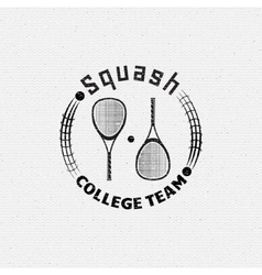 Squash badges logos and labels for any use vector image