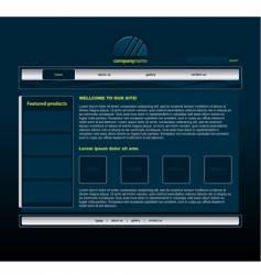 Blue website vector