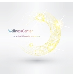 Wellness salon logo design template vector