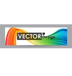 Banner with colorful curved element vector