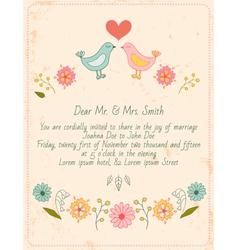 birds invitation vector image