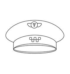 Black cap with the logo of a taxi uniforms taxi vector