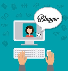 Blogger digital design vector