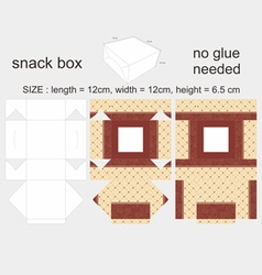 Brown snack box 12x12x65cm vector