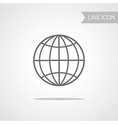 Conceptual line icon of globe vector image vector image