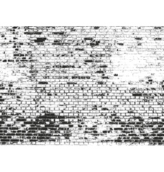 Distressed overlay texture of old brickwork vector image