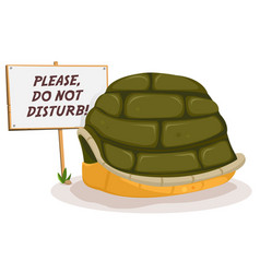 Do not disturb turtle sleeping vector