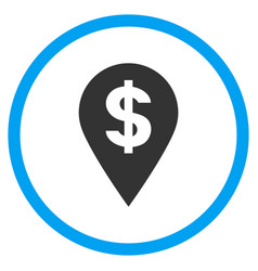 Dollar map marker rounded icon vector