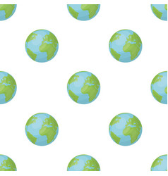 Earth icon in cartoon style isolated on white vector