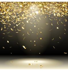 gold confetti vector image vector image