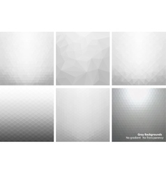 Gray abstract backgrounds vector