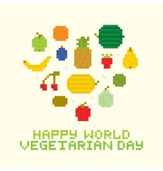 Happy world vegetarian day vector
