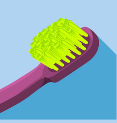 Long body brush icon flat style vector