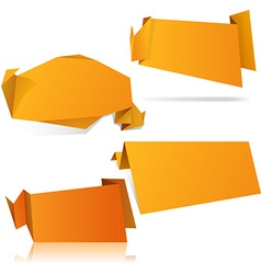 Origami orange wallpapers vector image
