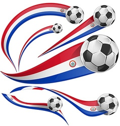paraguay flag with soccer ball vector image vector image