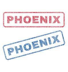 Phoenix textile stamps vector