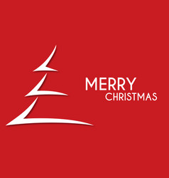 Red abstract merry christmas tree arrow vector