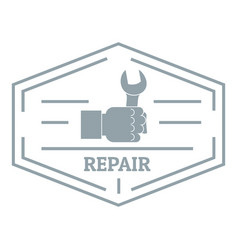 repair logo vintage style vector image