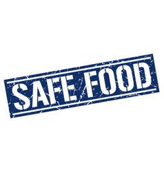 Safe food square grunge stamp vector
