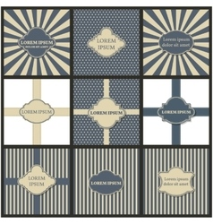 Set of backgrounds with frame for text vector image vector image