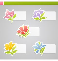 Set of multicolored flowers vector