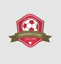 Soccer football badge and ribbon vector