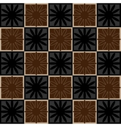 Squares seamless pattern brown colors vector