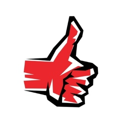 thumb up stylized symbol vector image vector image